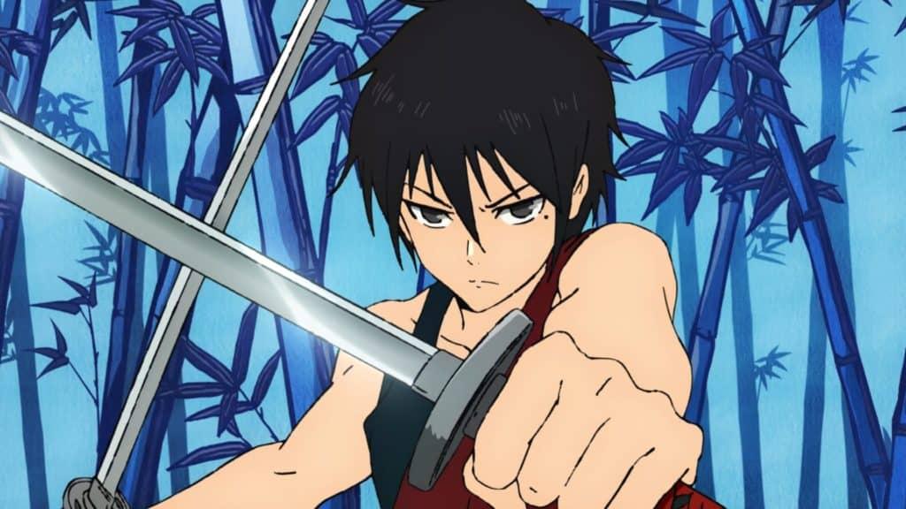 Hatsu nell'anime mentre brandisce le sue due katane