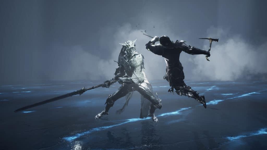 Uno scontro contro un nemico su Mortal Shell