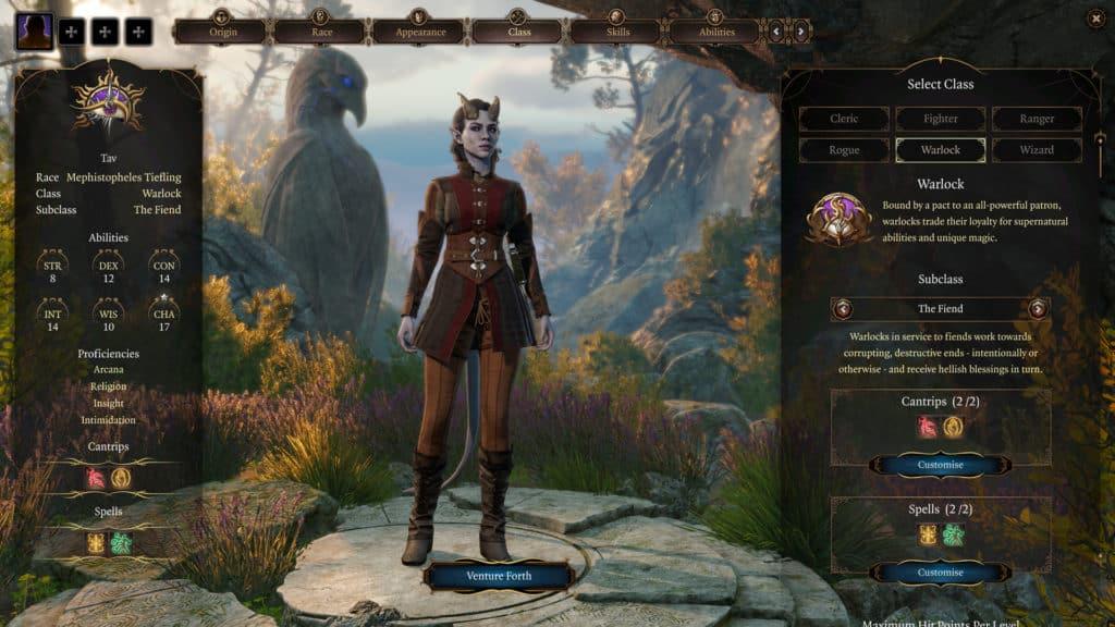 Editor personaggio Baldur's Gate 3