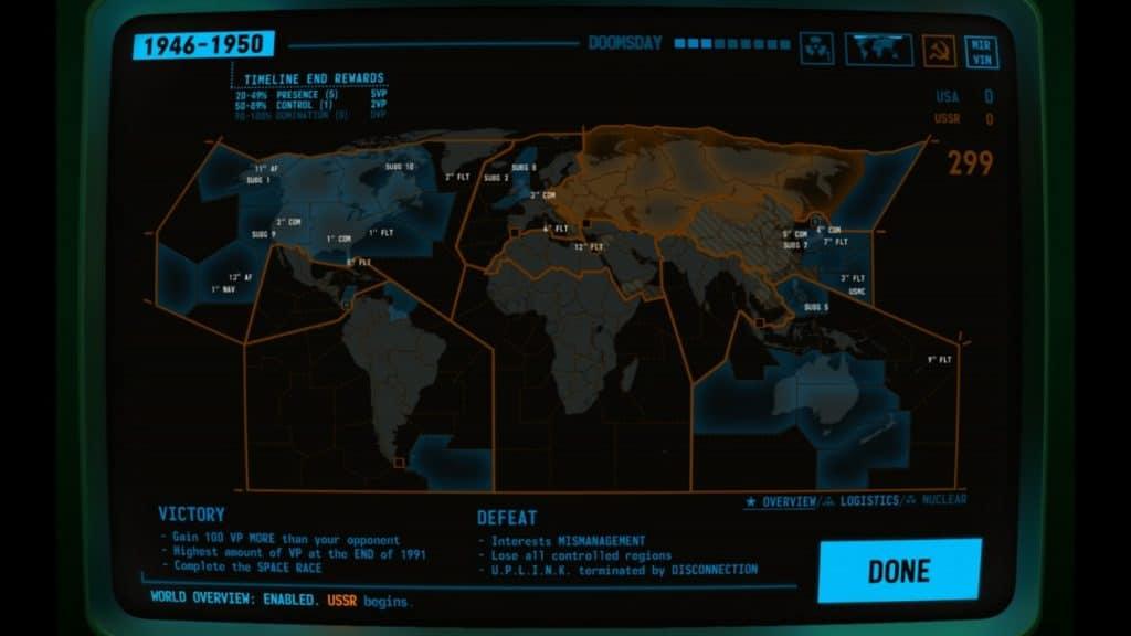 Mappa della terra in Terminal Conflict