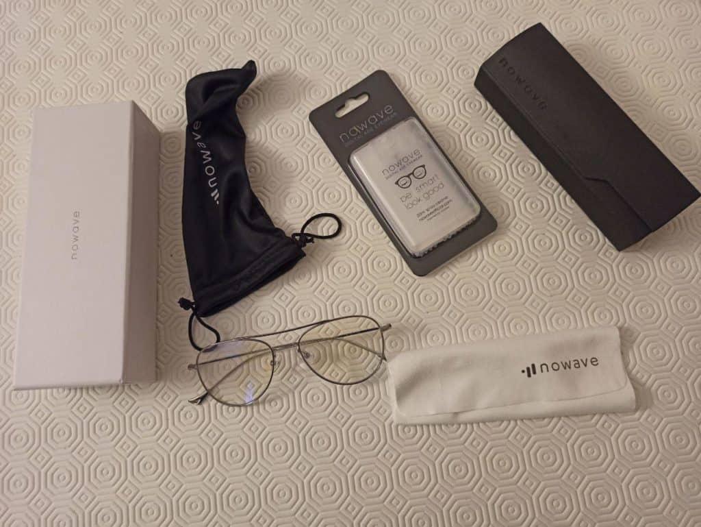 Pacco degli occhiali Nowave anti luce blu modello Theory