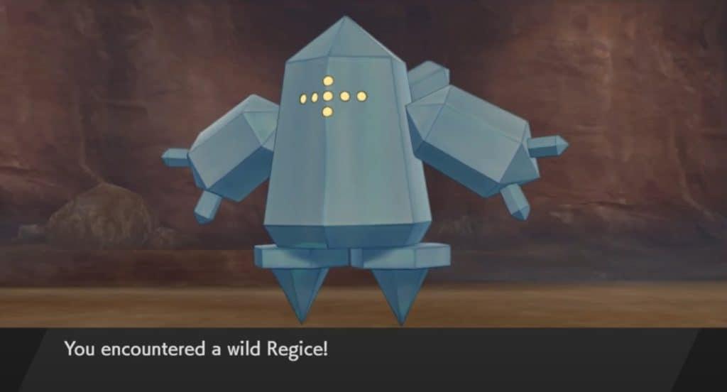 Regice in Pokémon Spada e Scudo