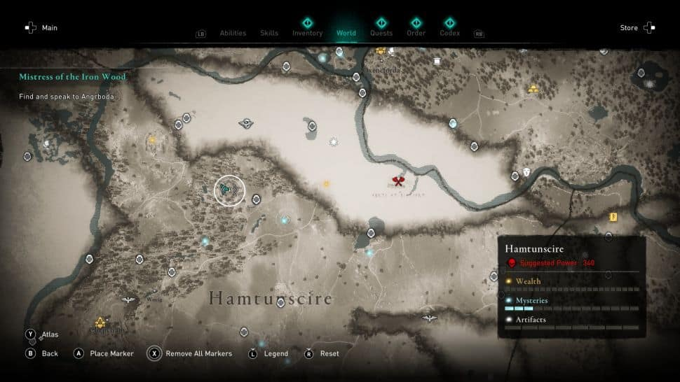 La location della caverna dove si trova Excalibur in Assassin's Creed Valhalla