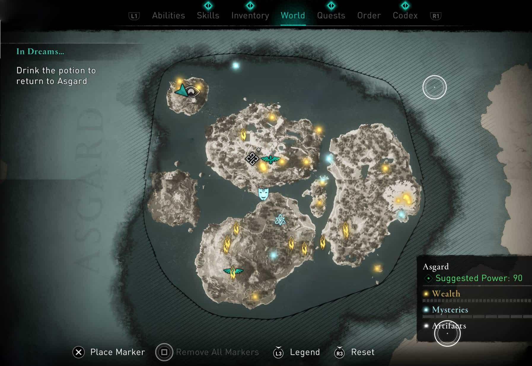 Assassin's Creed Valhalla: Punti di interesse ad Asgard