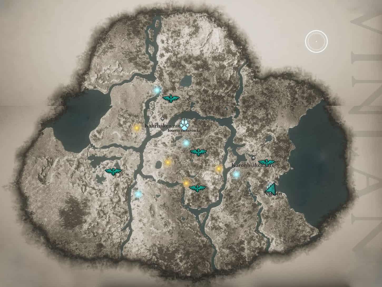 Assassin's Creed Valhalla: Punti di interesse nel Vinland
