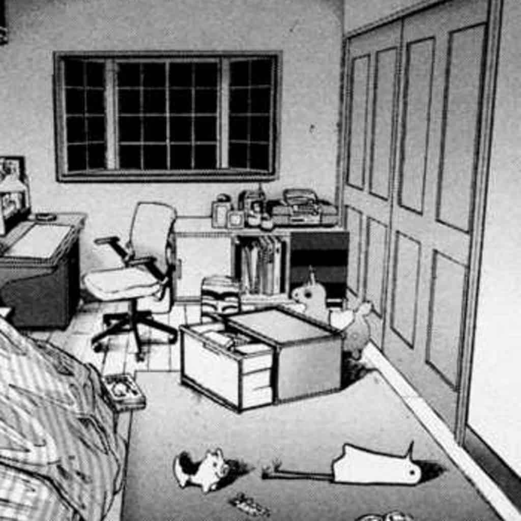 Punpun di Buonanotte, Punpun giace abbandonato per terra nella sua camera