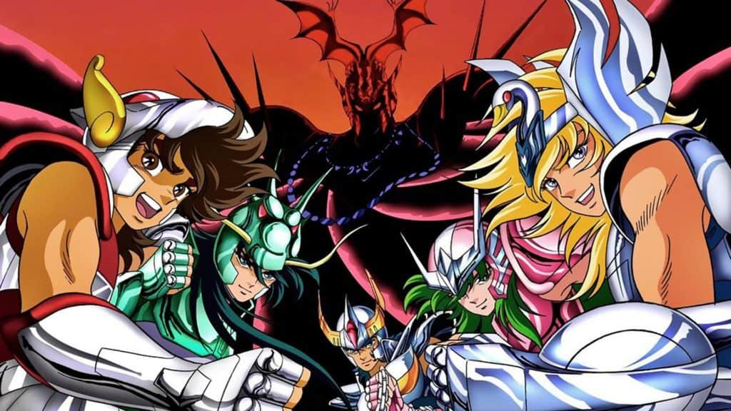 I 5 protagonisti della serie,  Pegasus, Sirio, Phoenix, Andromeda e Crystal per noi Italiani
