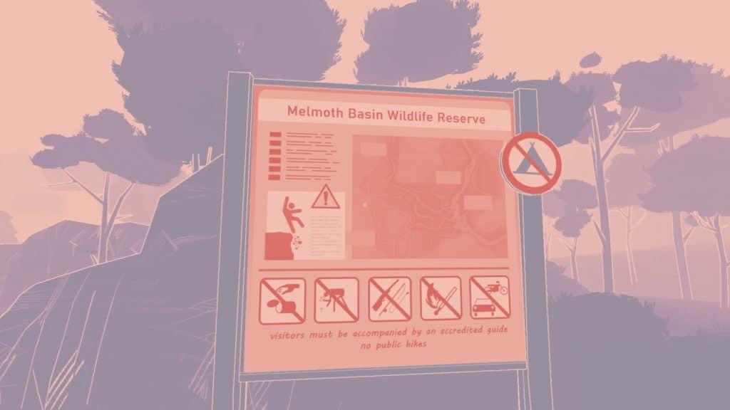 La mappa di Melmoth con le precauzioni ai nuovi arrivati