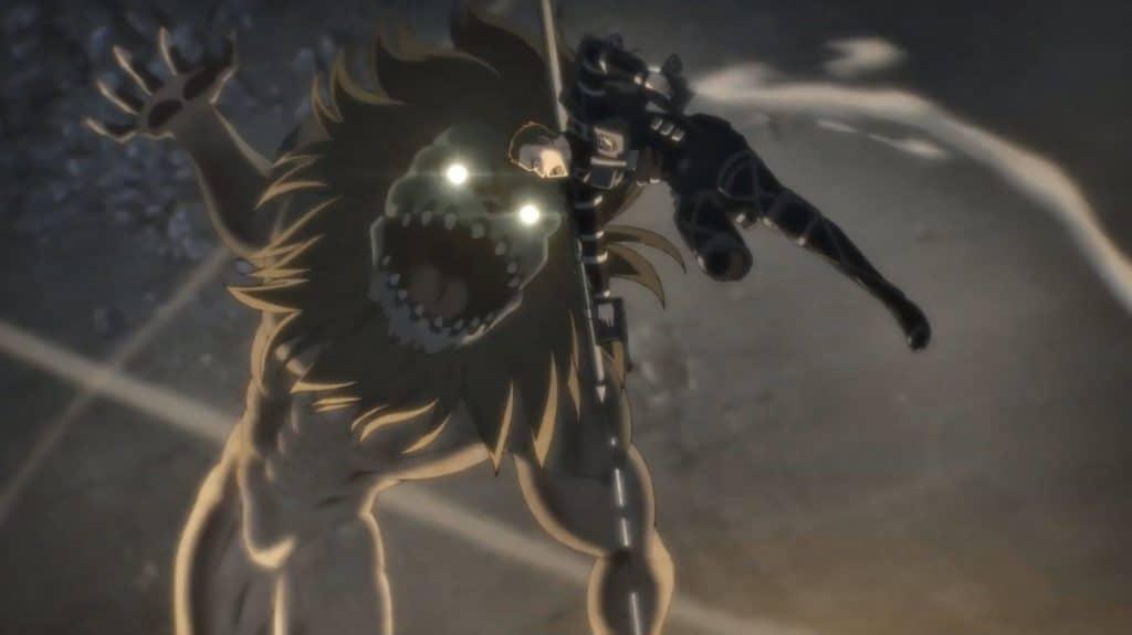 Il gigante mandibola attacca un membro del corpo di spedizione