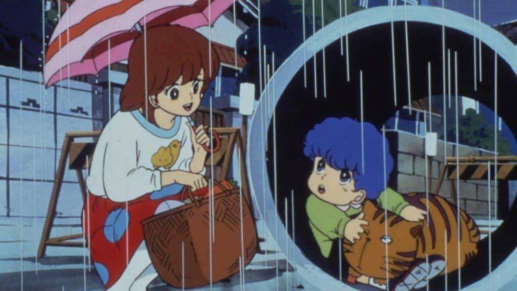 Licia aiuta Andrea e Giuliano durante una giornata piovosa