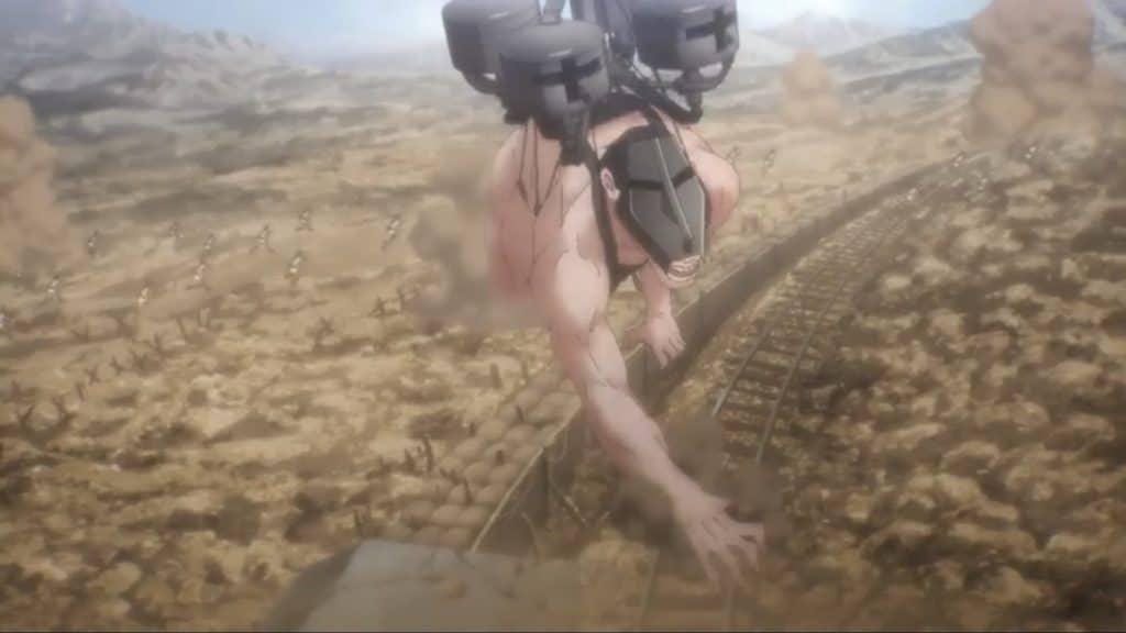 Il gigante carro attacca le truppe nemiche col cannone montato sulla schiena