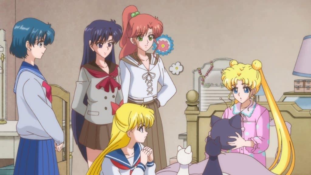 Le guerriere Sailor fanno visita a Bunny