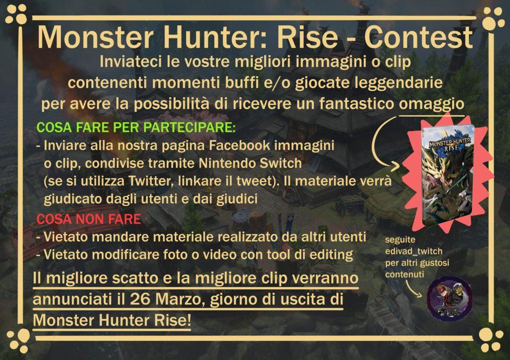 Il nuovo contest di Monster Hunter Rise della Taverna del Cacciatore