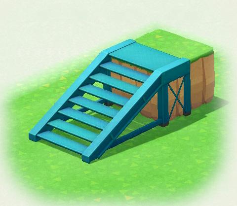 Scala di acciaio blu