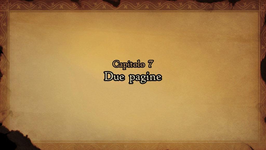 Schermata del Capitolo 7 intitolato Due pagine