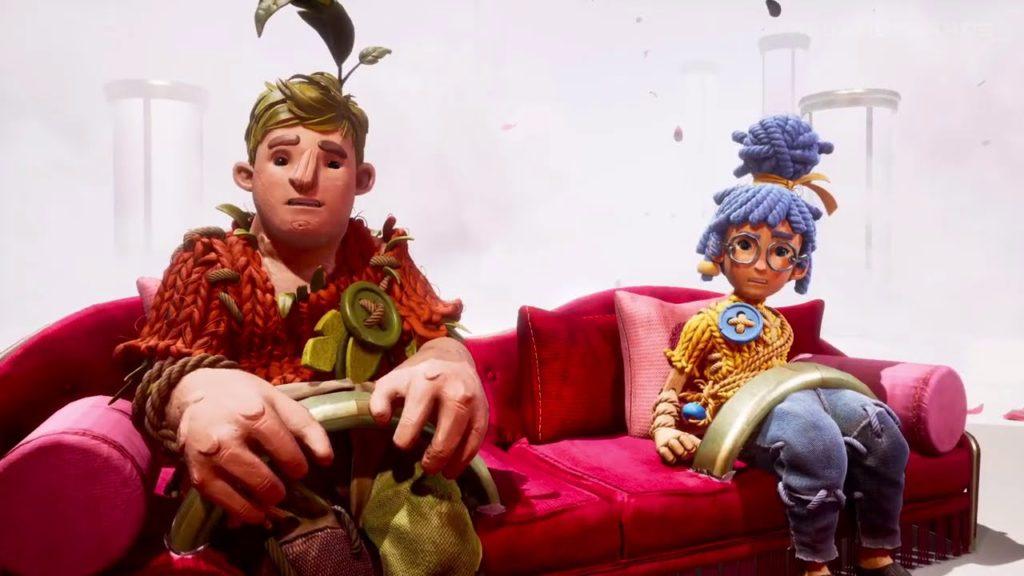 Protagonisti di It Takes Two sul divano