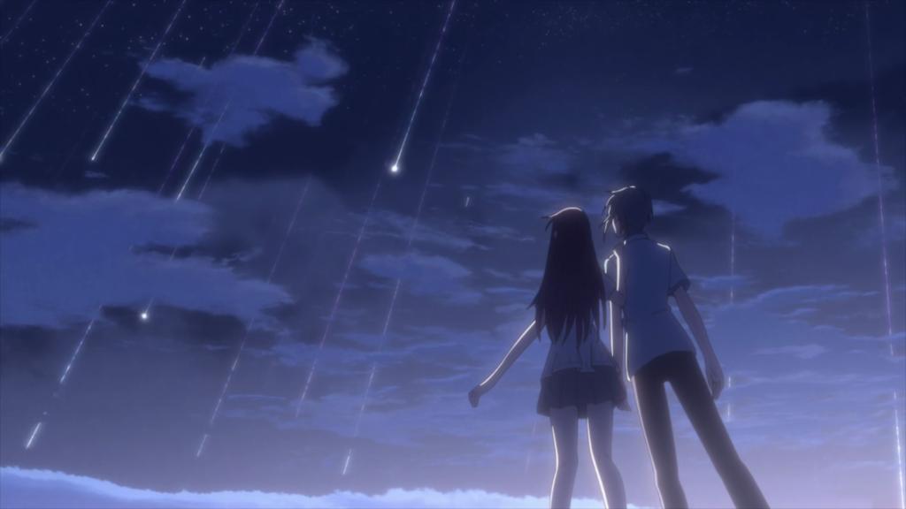 Yuki e Thora sotto un cielo di stelle cadenti