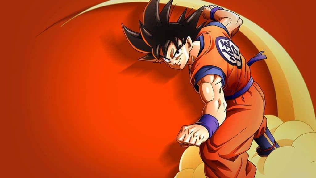 L'eroe Goku che cavalca la nuvola Speedy