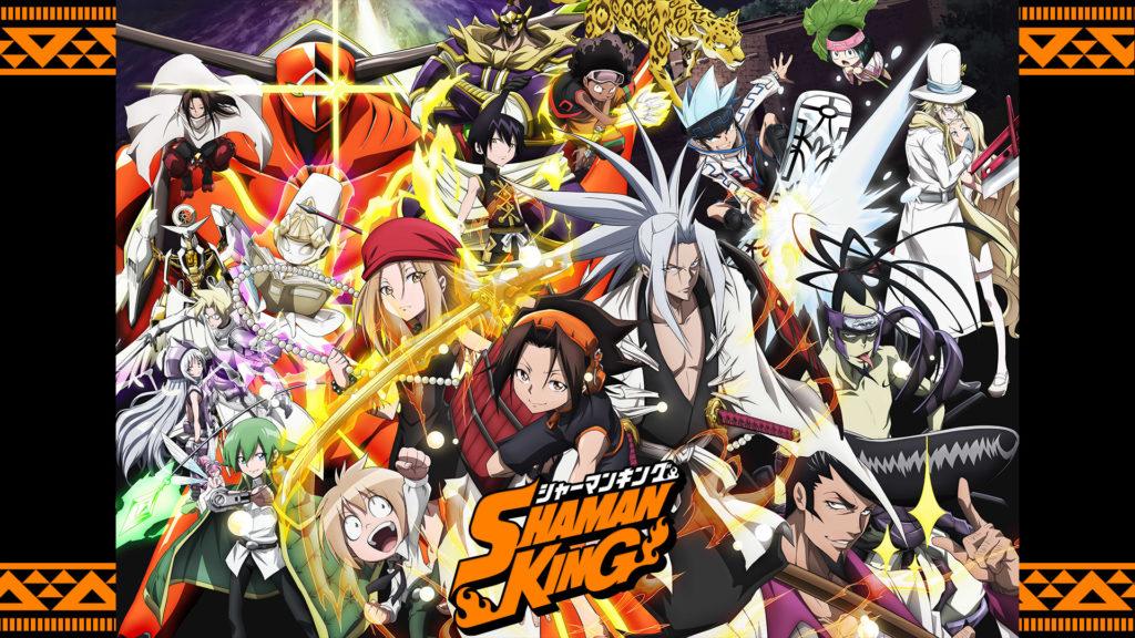 Shaman King copertina con tutti i protagonisti della serie