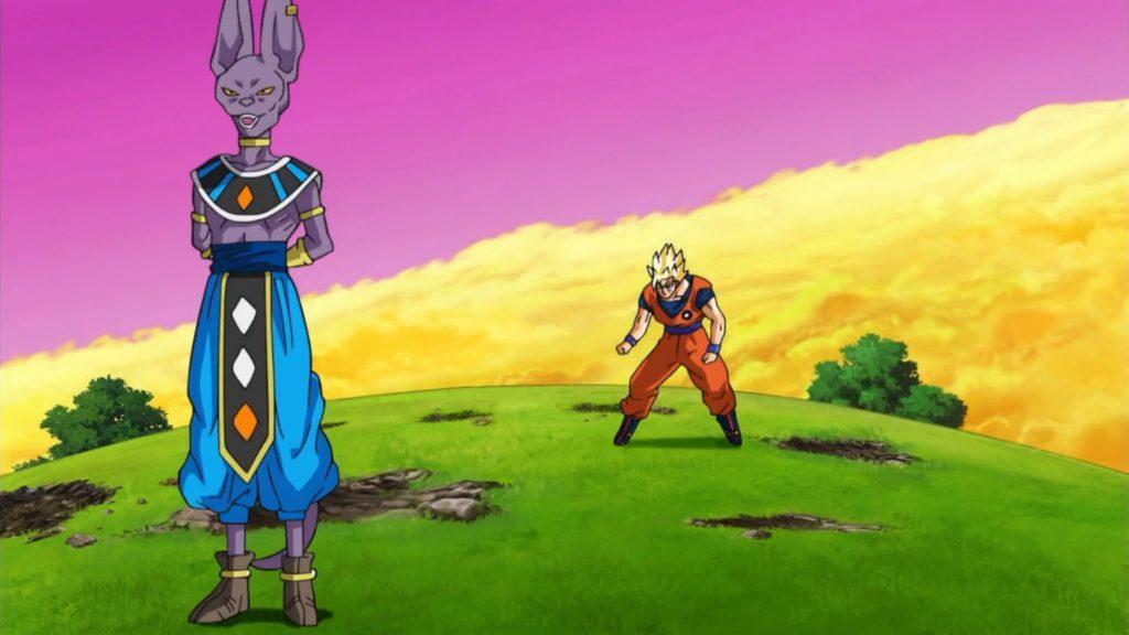 I disegni dell'episodio 5 di Dragon Ball Super mostrano Lord Beerus contro Goku
