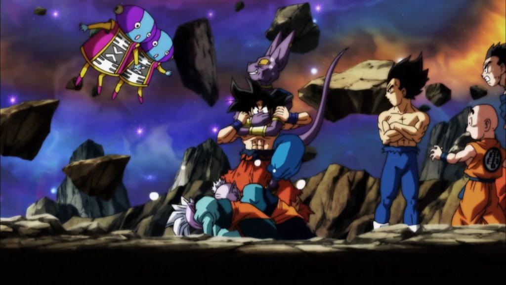 Goku viene zittito da Lord Beerus e i Kaioshin dell'universo 7