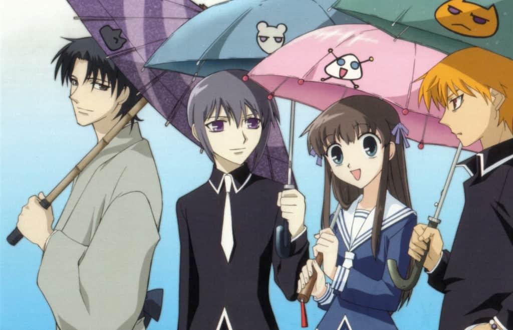 I vari protagonisti, ciascuno dei quali ha con sé un ombrello