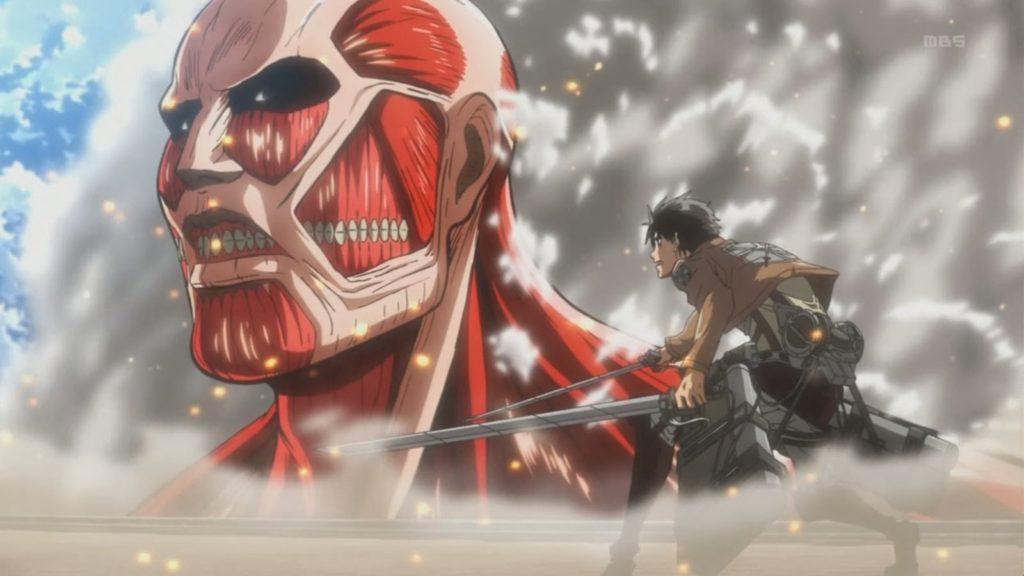 Il gigante colossale e Eren