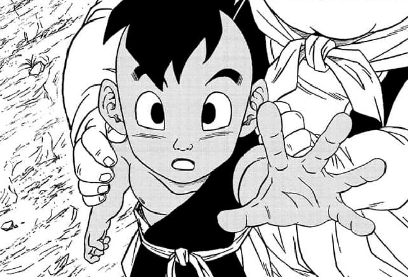 Ub convoglia la sua energia verso Goku.