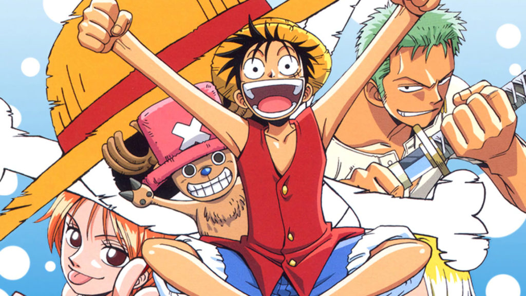 Alcuni membri della ciurma protagonista di One Piece a inizio serie