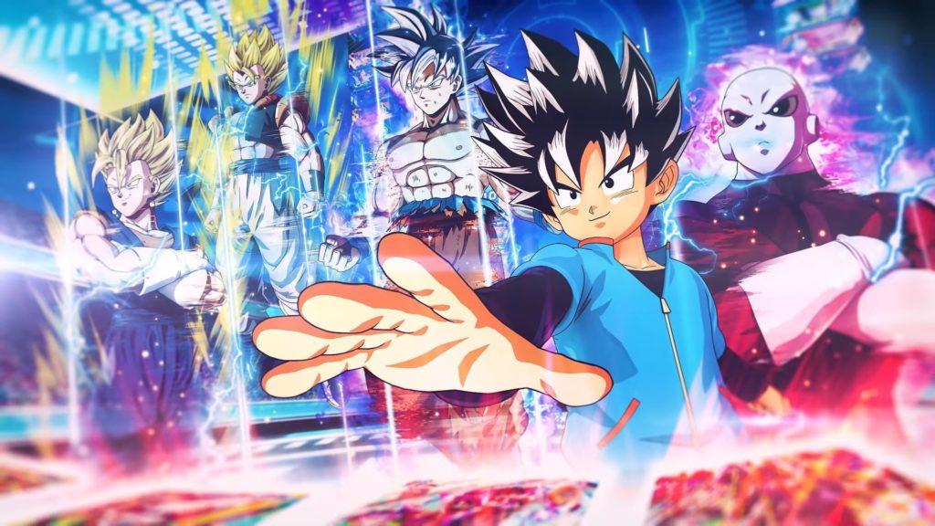 Evocazione degli eroi di Dragon Ball tramite carte