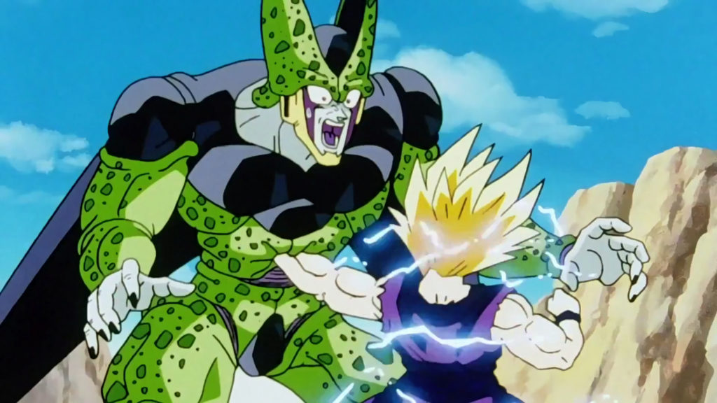 Gohan e Cell combattono