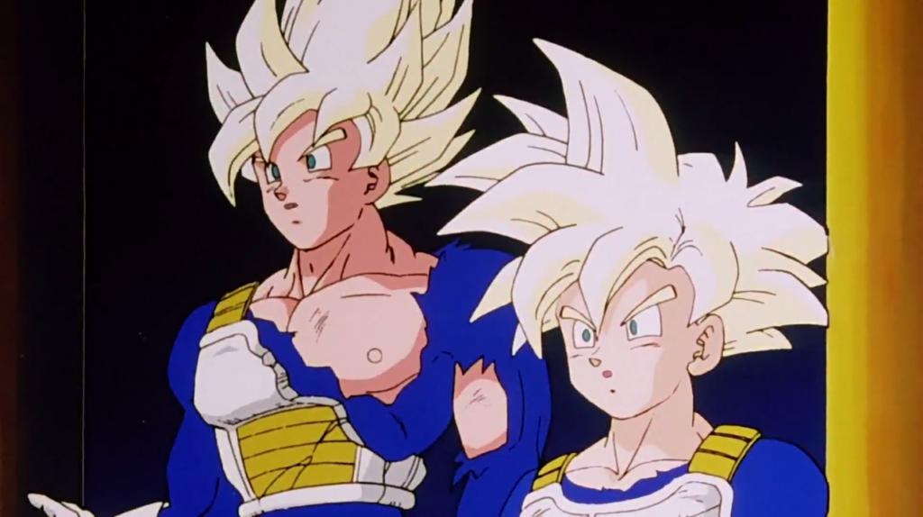 Goku e Gohan nella forma Super Saiyan Full Power