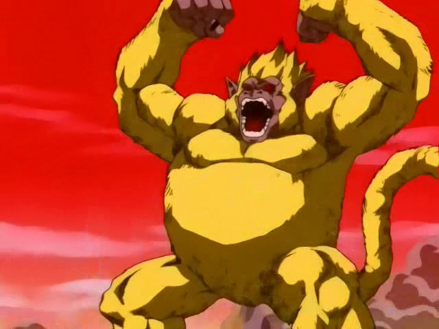 Goku Grande Scimmia Dorata