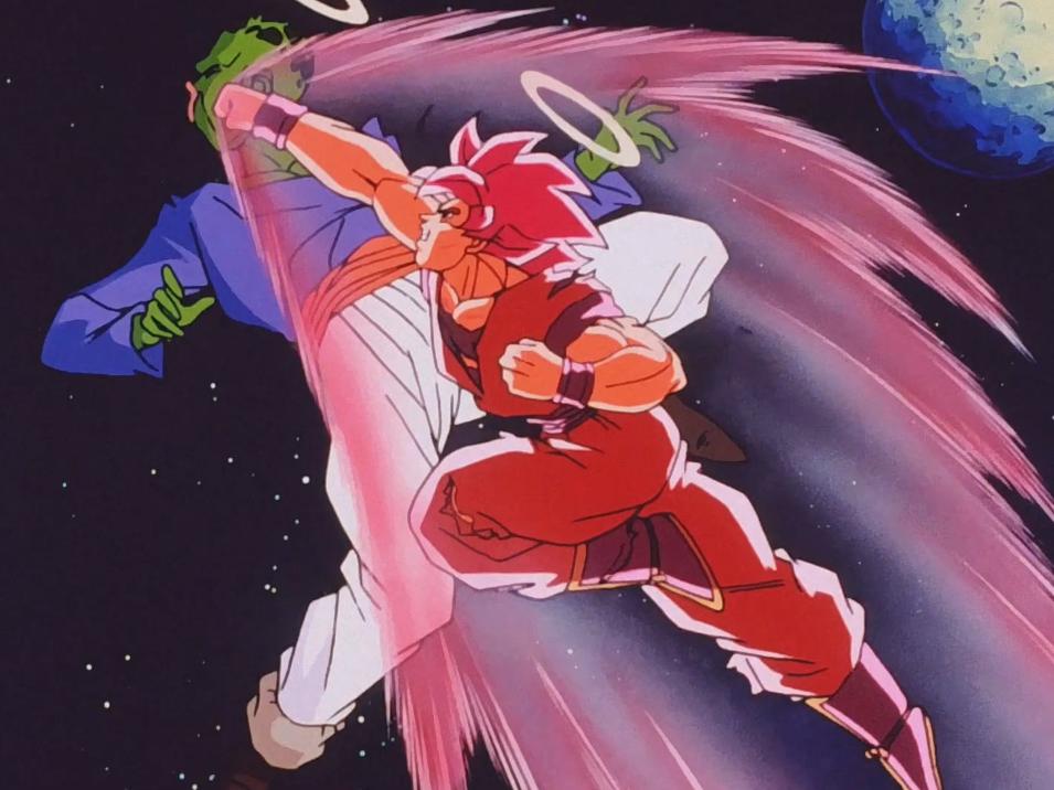 Goku Super Saiyan kaioken contro Pikkon