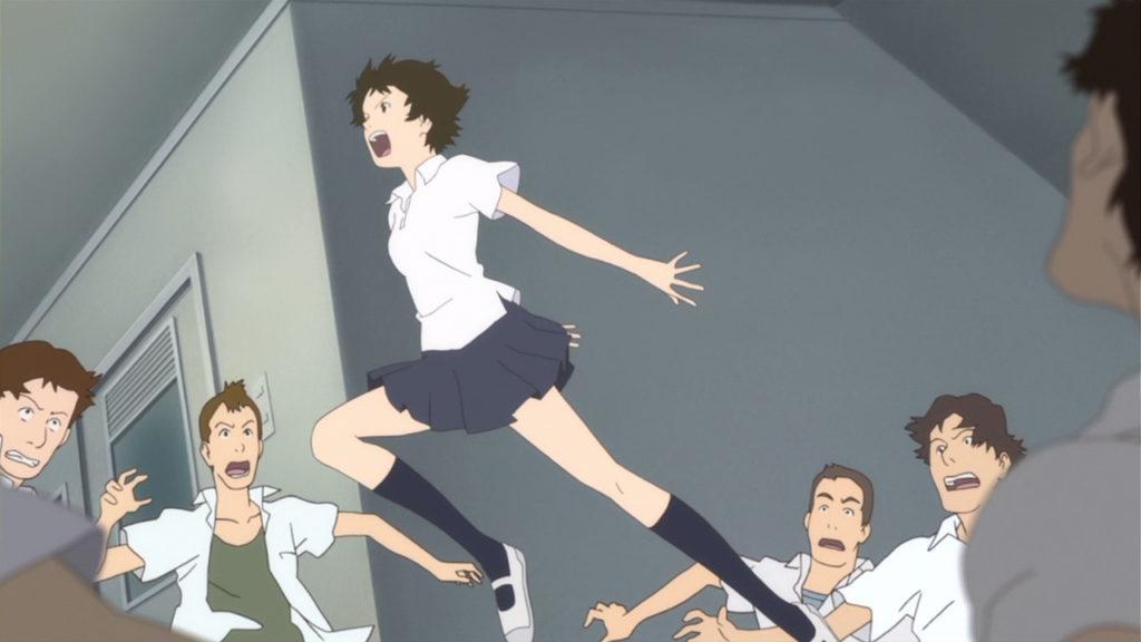 la protagonista che salta