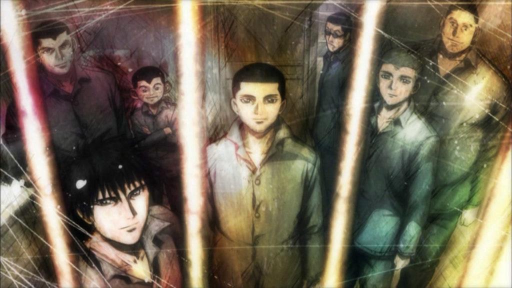 sette ragazzi dietro le sbarre di una cella