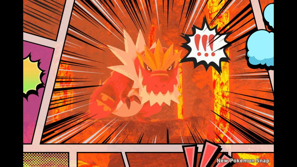 Una foto di Tyrantrum modificata in New Pokémon Snap