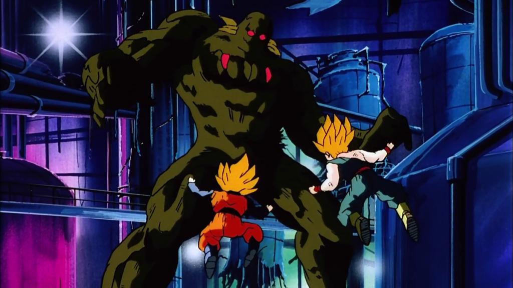 Bio Broly contro Goten e Trunks