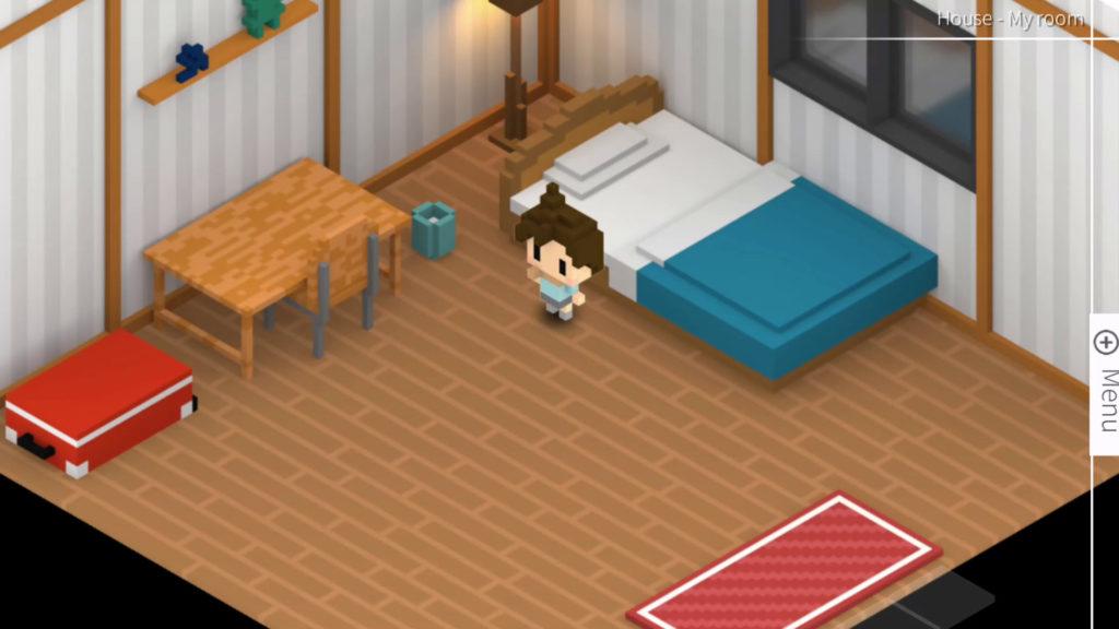 Il protagonista Haruto nella sua stanza