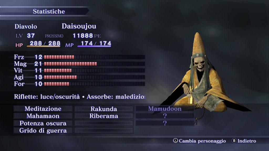 Abilità di Daisoujou