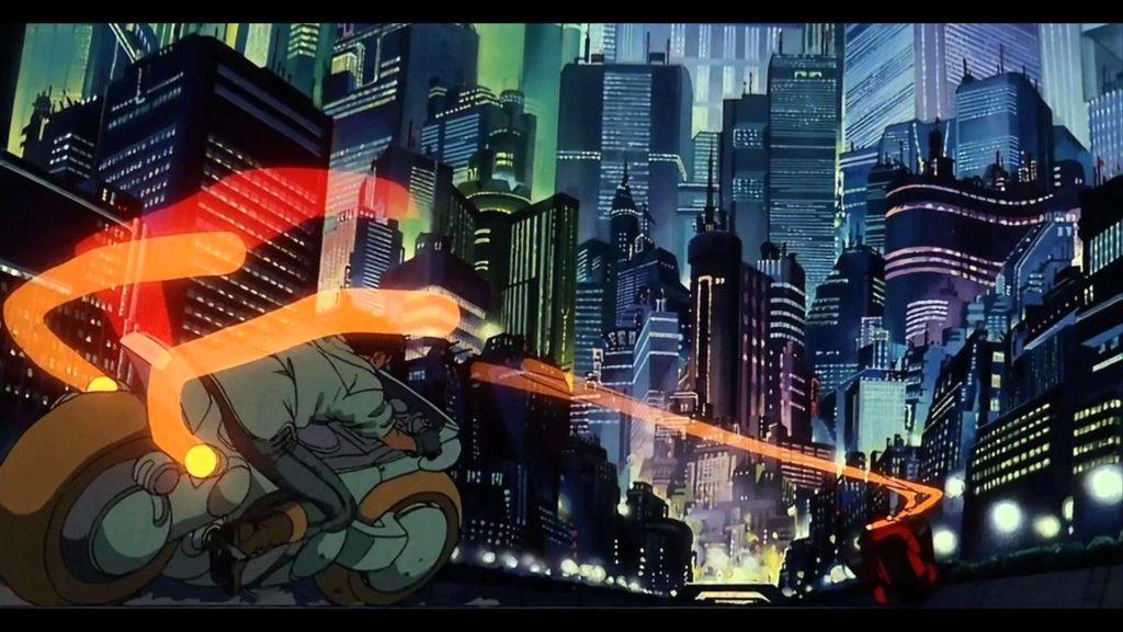 Una scena di Akira, diretto da Katsuhiro Otomo.
