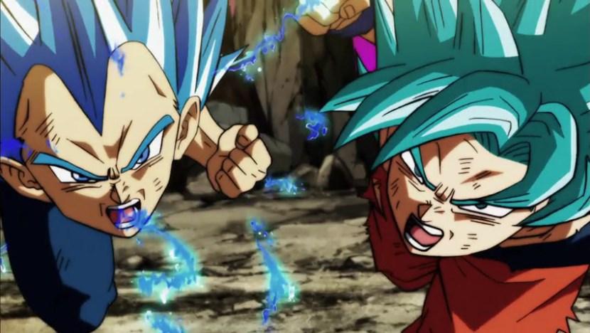 Goku e Vegeta attaccano Jiren.