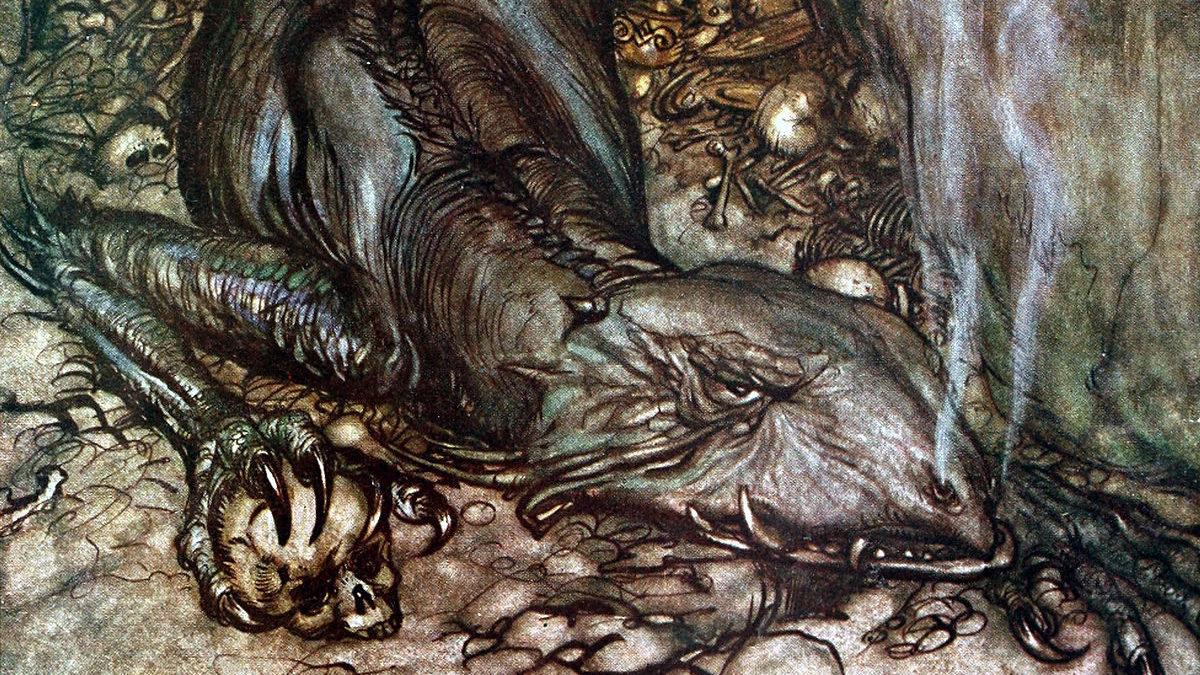 Fafnir in una rappresentazione di Arthur Rackham