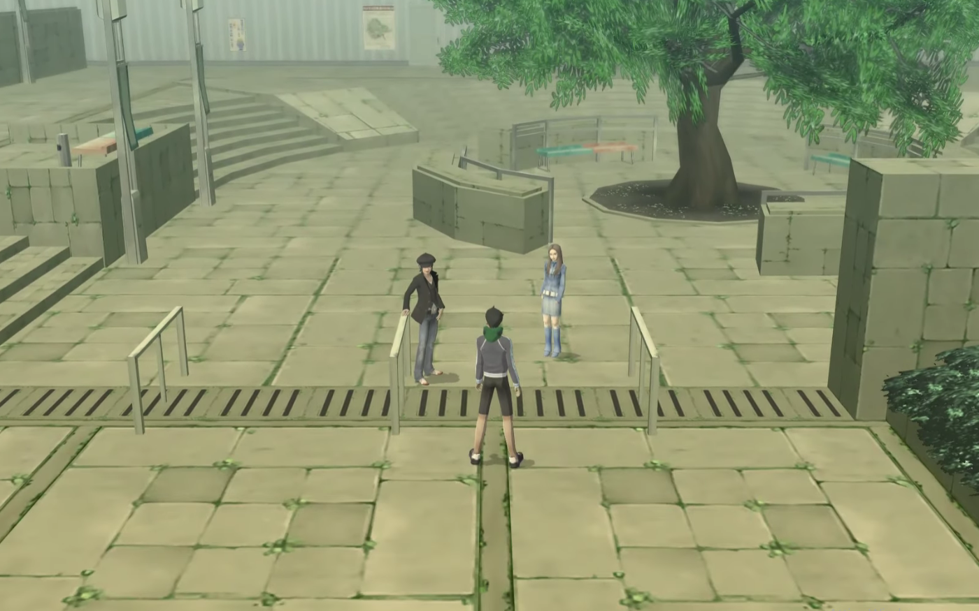 Il protagonista, Chiaki e Isamu si rincontrano al parco Yoyogi