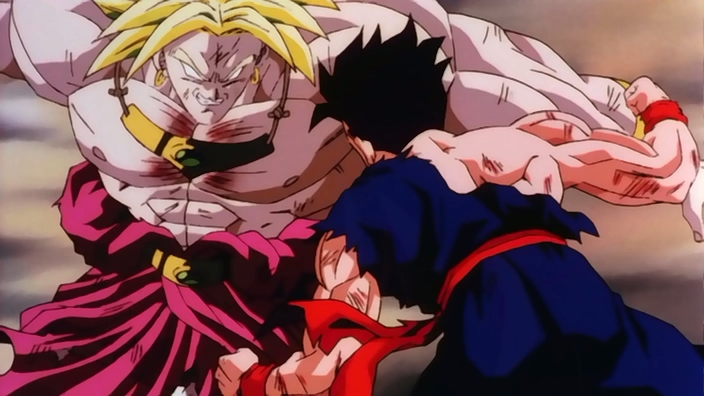Broly combatte contro Gohan