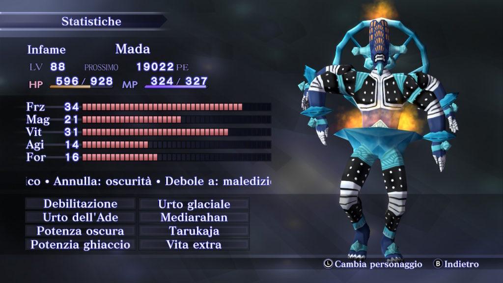 Mada, un demone di alto livello su Nocturne
