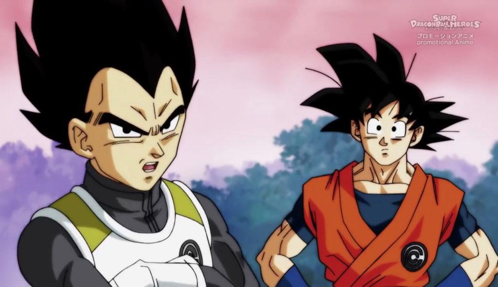 Goku e Vegeta in una scena dell'anime.