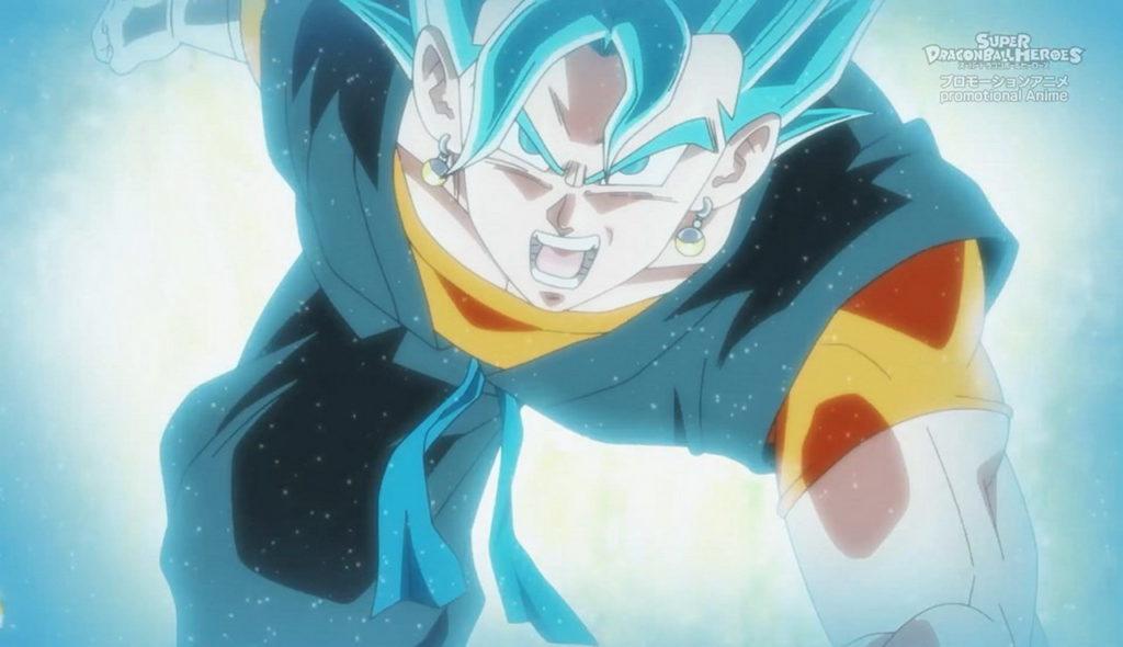Vegeth Super Saiyan Blue in una scena dell'anime.