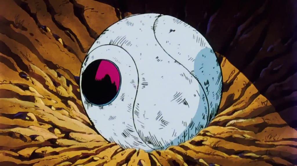 La Attack Ball di Raddish quando atterra sulla Terra.
