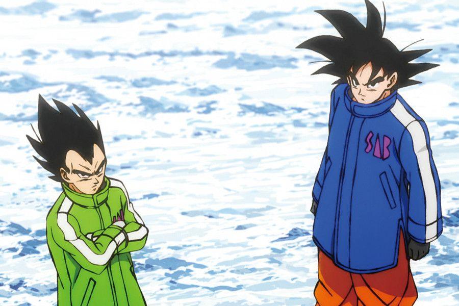 Goku e Vegeta nel film di Broly Super